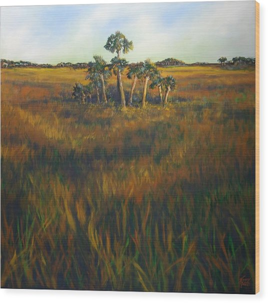 Ten Palms Wood Print by Michele Hollister - for Nancy Asbell