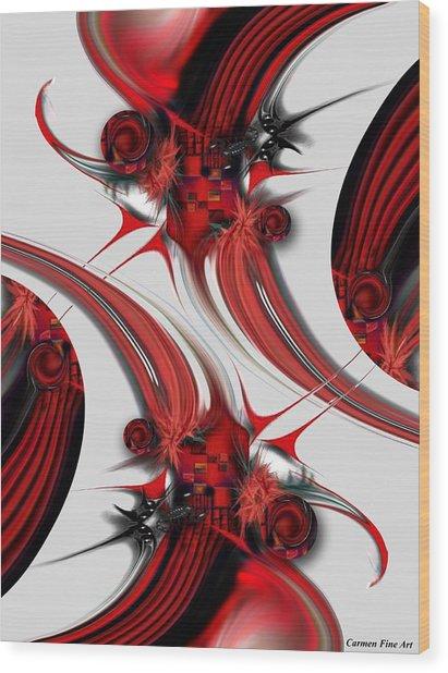 Tender Design - Composition Wood Print