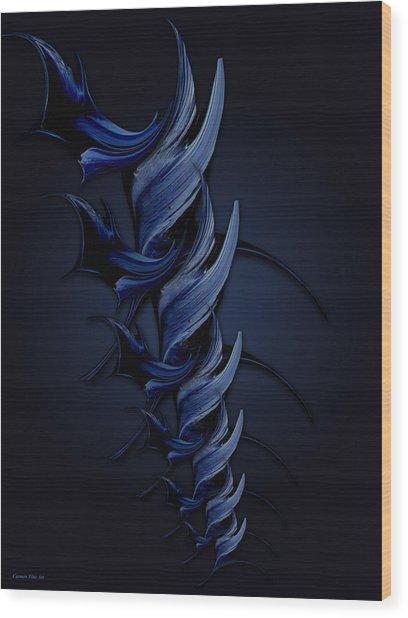 Tender Vision Of Blue Feeling Wood Print