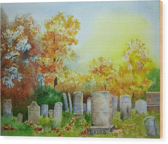 Tennant Cemetery New Jersey Wood Print