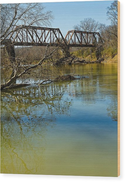 Tennessee Backwater Wood Print
