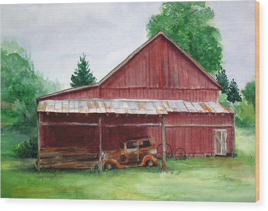 Tennessee Barn Wood Print by Suzanne Krueger