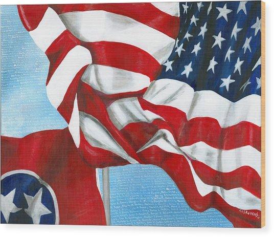 Tennessee Heroes Wood Print
