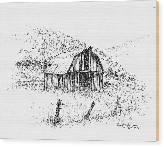 Tennessee Hills With Barn Wood Print