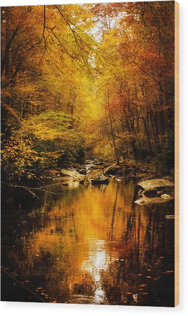 Tennessee Mountains Autumn Wood Print