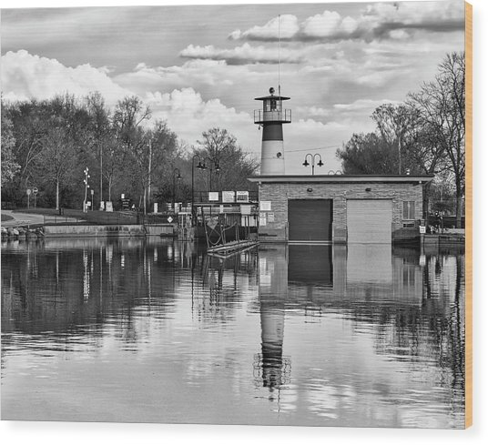 Tenney Lock 3 - Madison - Wisconsin Wood Print