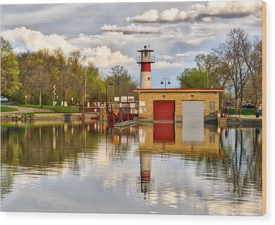 Tenney Lock - Madison - Wisconsin Wood Print