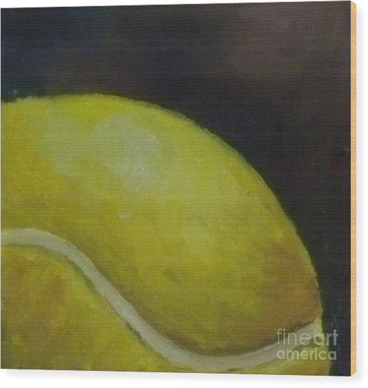 Tennis Ball No. 2 Wood Print