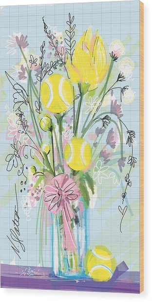 Tennis Bouquet Wood Print