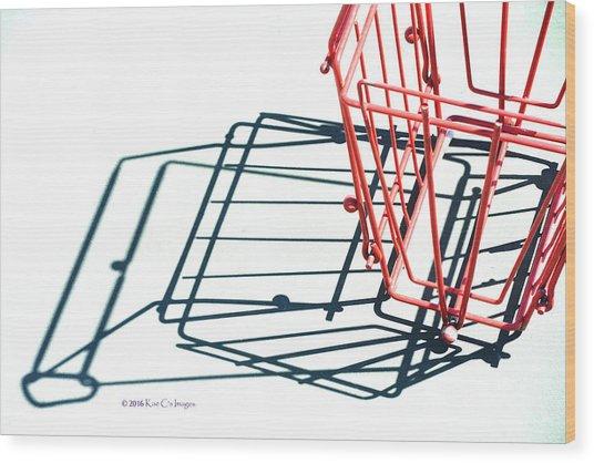 Tennis Court Pickup Basket Wood Print