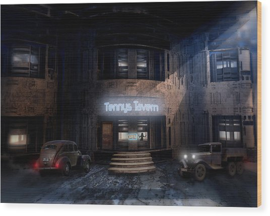 Tenny's Tavern Wood Print