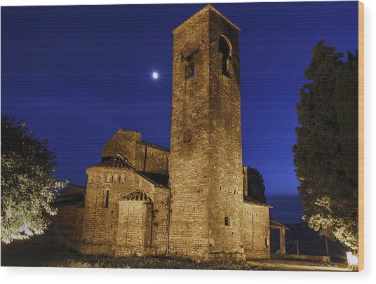 Tenth Century Church In Artimino Wood Print