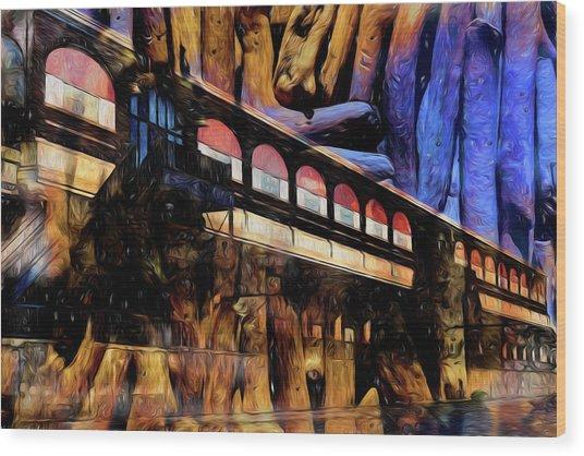 Terminal Wood Print