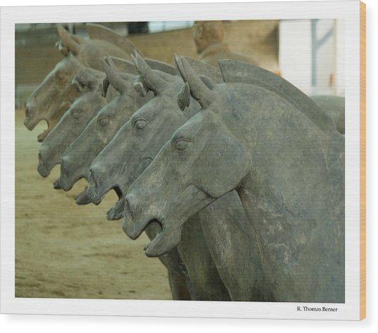 Terra Cotta Horses Wood Print