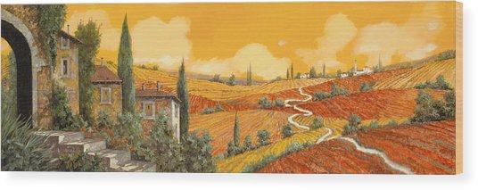 terra di Siena Wood Print
