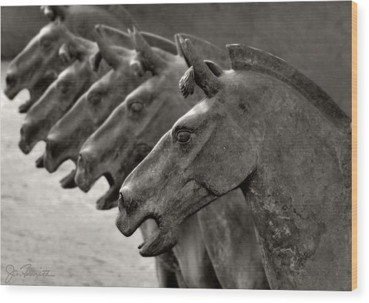 Terracotta Horses Wood Print