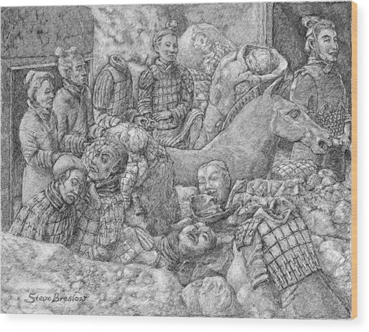 Terracotta Warriors Wood Print