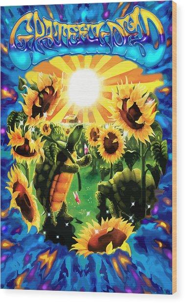 Terrapin Sun Flowers Wood Print