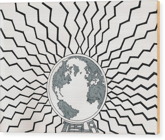 Tesla Changed The World Wood Print