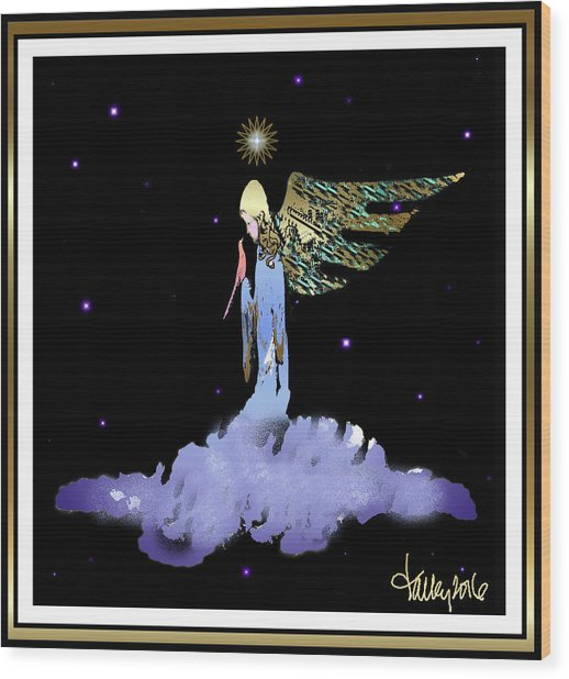 Heavenly Visit Wood Print