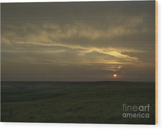 Teterville Sunset Wood Print