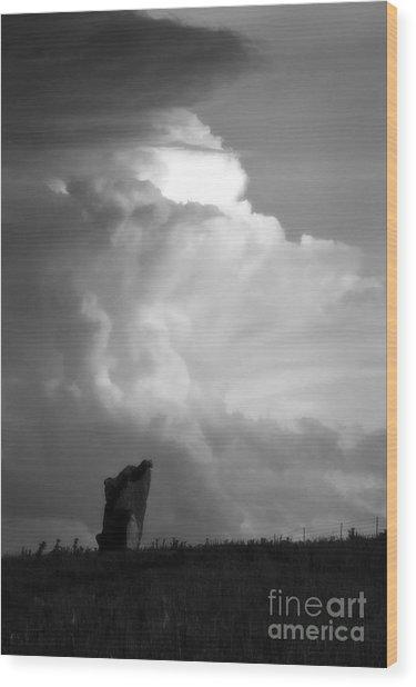 Teterville Thunderstorm Wood Print by Fred Lassmann