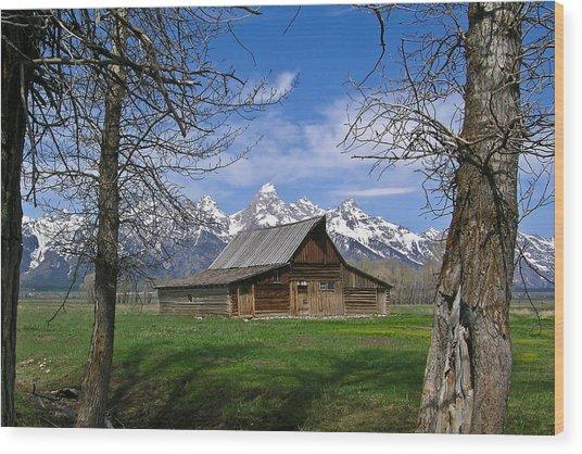 Teton Barn Wood Print