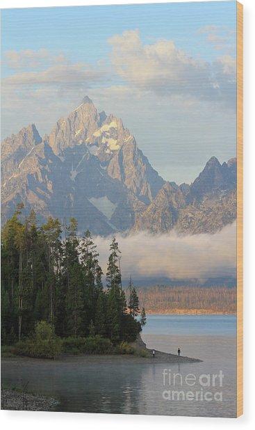 Teton Early Morning Wood Print
