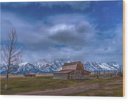 Teton National Park Mormon Row Wood Print