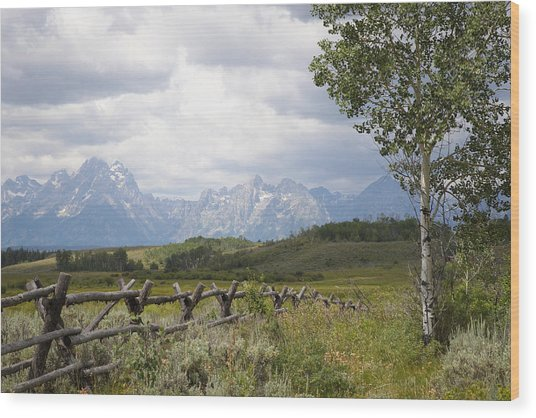 Teton Ranch Wood Print