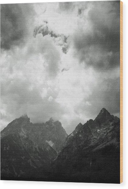 Teton Sky Wood Print