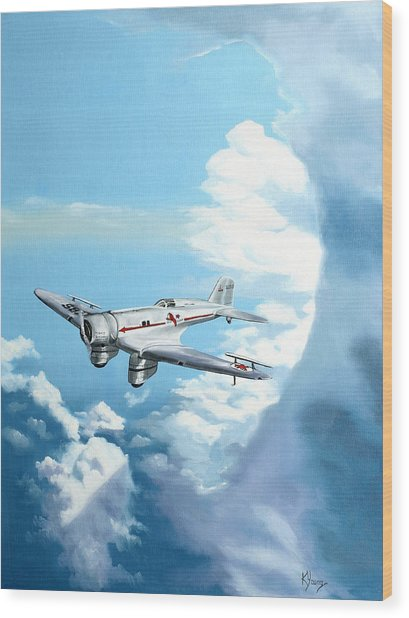 Texaco Sky Chief Wood Print by Kenneth Young