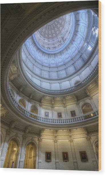 Texas Capitol Dome Interior Wood Print