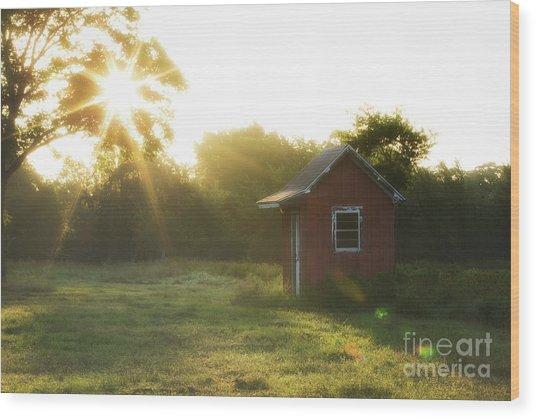 Texas Farm Wood Print