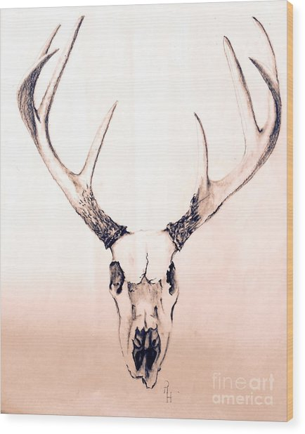 Texas Mount Deer Wood Print