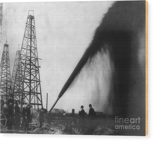 Texas: Oil Derrick, C1901 Wood Print