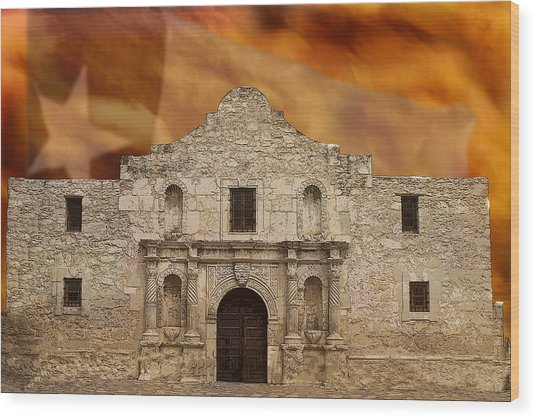 Texas Pride Wood Print