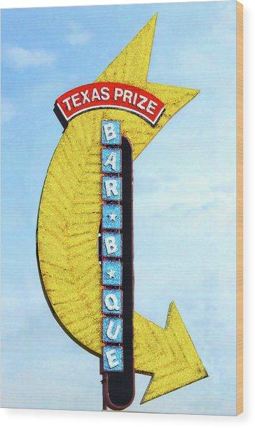 Texas Q Wood Print