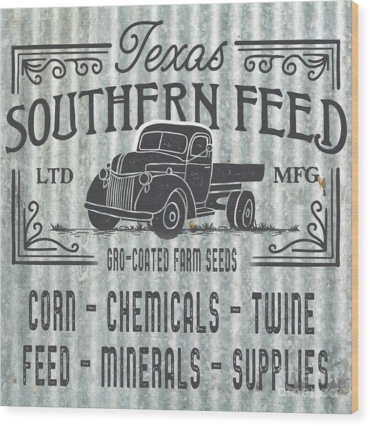 Texas Southern Feed Sign Wood Print