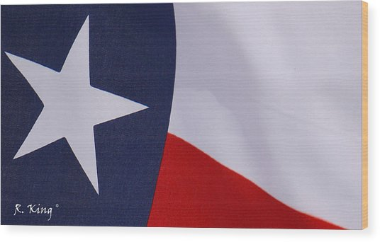Texas Star Wood Print