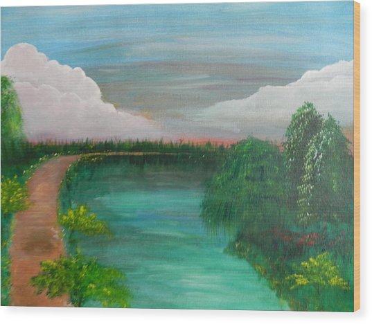 Texas Summer Wood Print by Patti Spires Hamilton