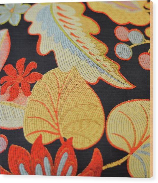 Textile Wood Print by JAMART Photography