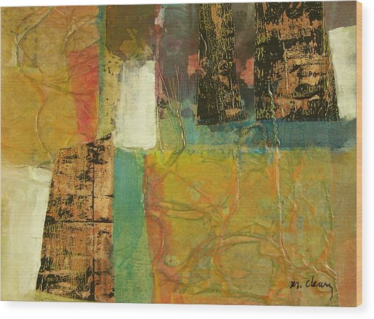 Textural Notions Wood Print by Melody Cleary