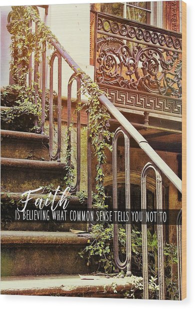 Texture Of Savannah Quote Wood Print by JAMART Photography