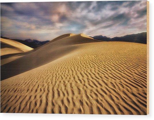 Textured Dunes  Wood Print