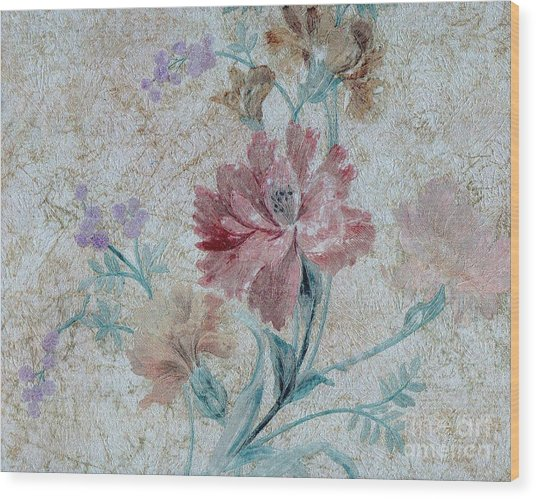 Textured Florals No.1 Wood Print