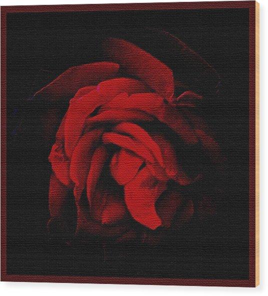 Textured Rose Wood Print by Russ Mullen