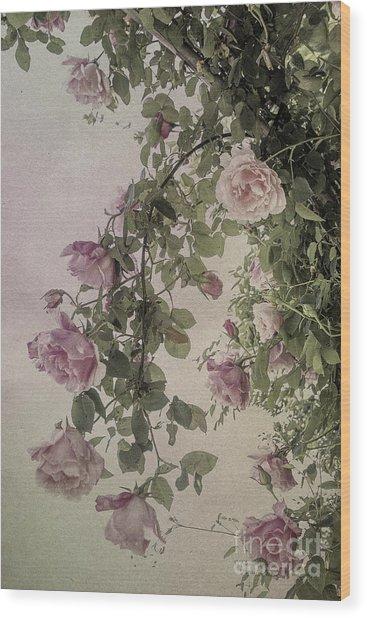 Textured Roses Wood Print