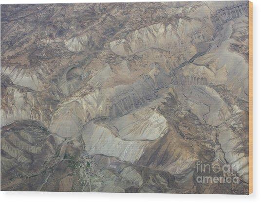 Textured Valleys Wood Print by Tim Grams