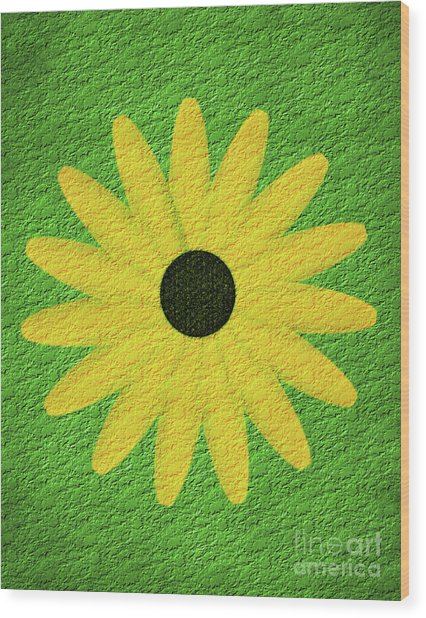 Textured Yellow Daisy Wood Print